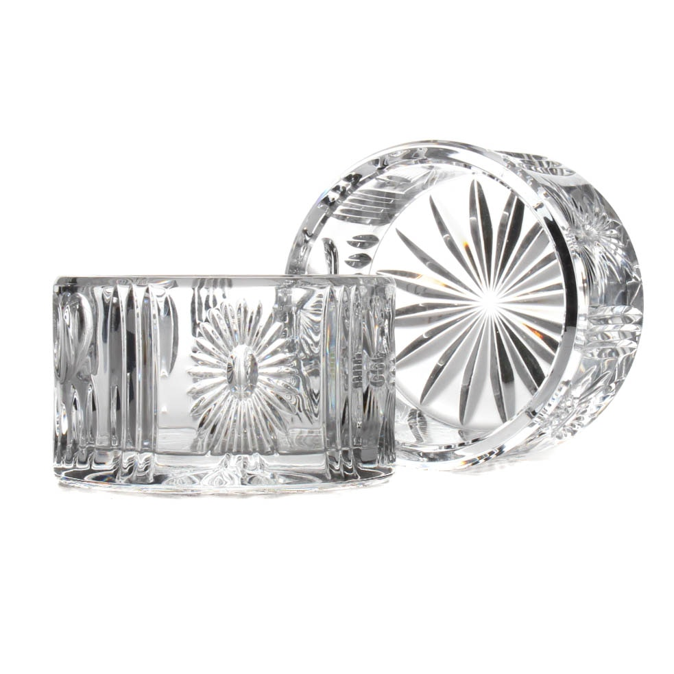 "Waterford ""Millennium"" Crystal Bowl Pair"