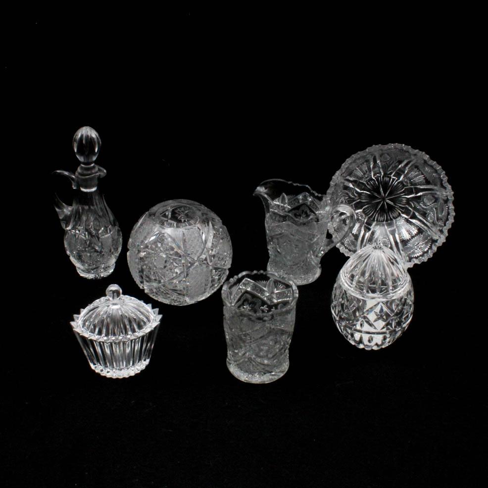 American Brilliant Cut Style Glass Decor