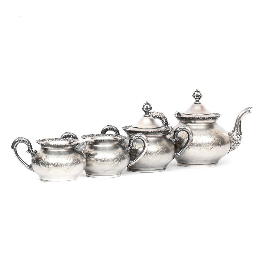 Van Berch Silver Plate Tea Service