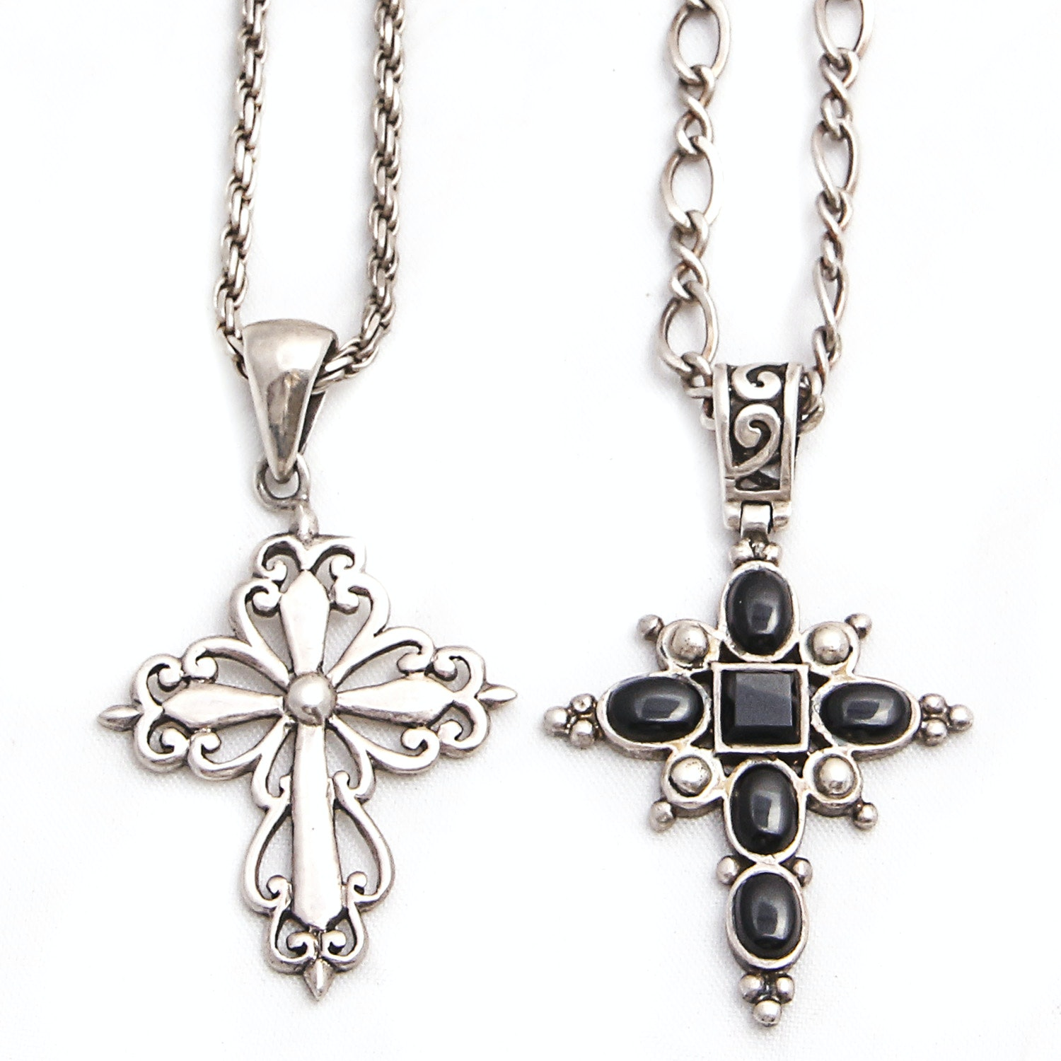 Sterling Silver Necklaces with Cross Pendants