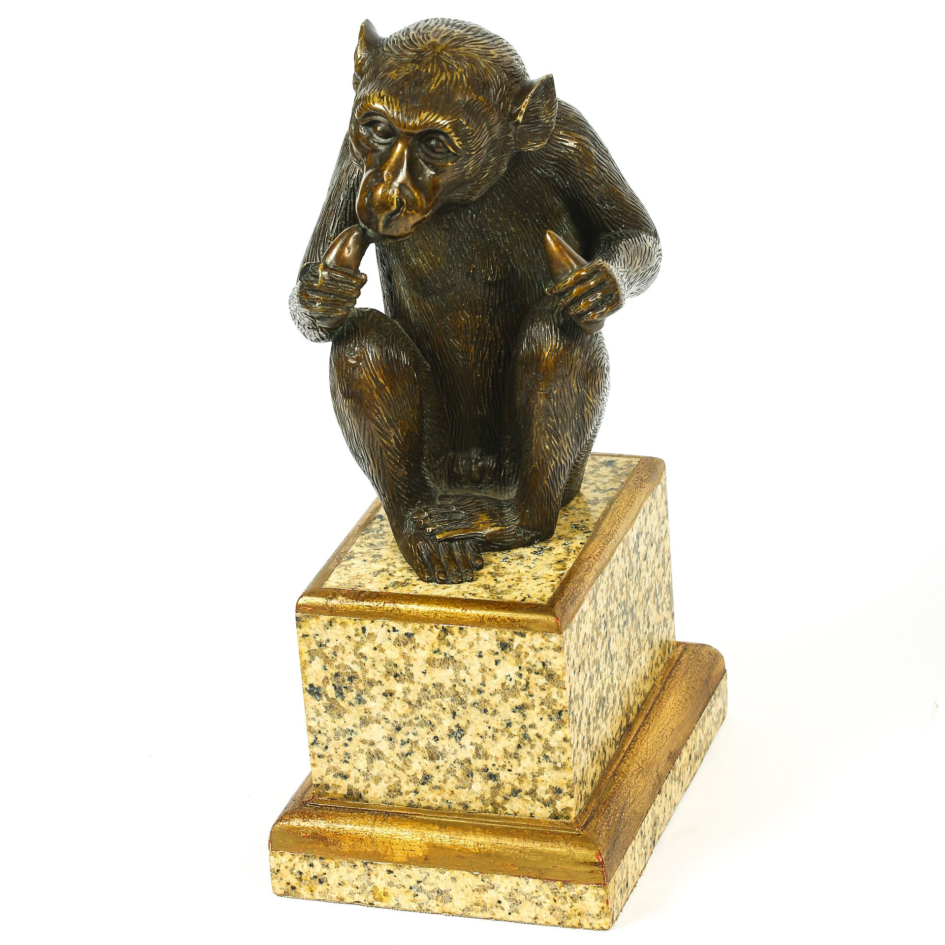 Theodore Alexander Bronze Sculpture of Monkey