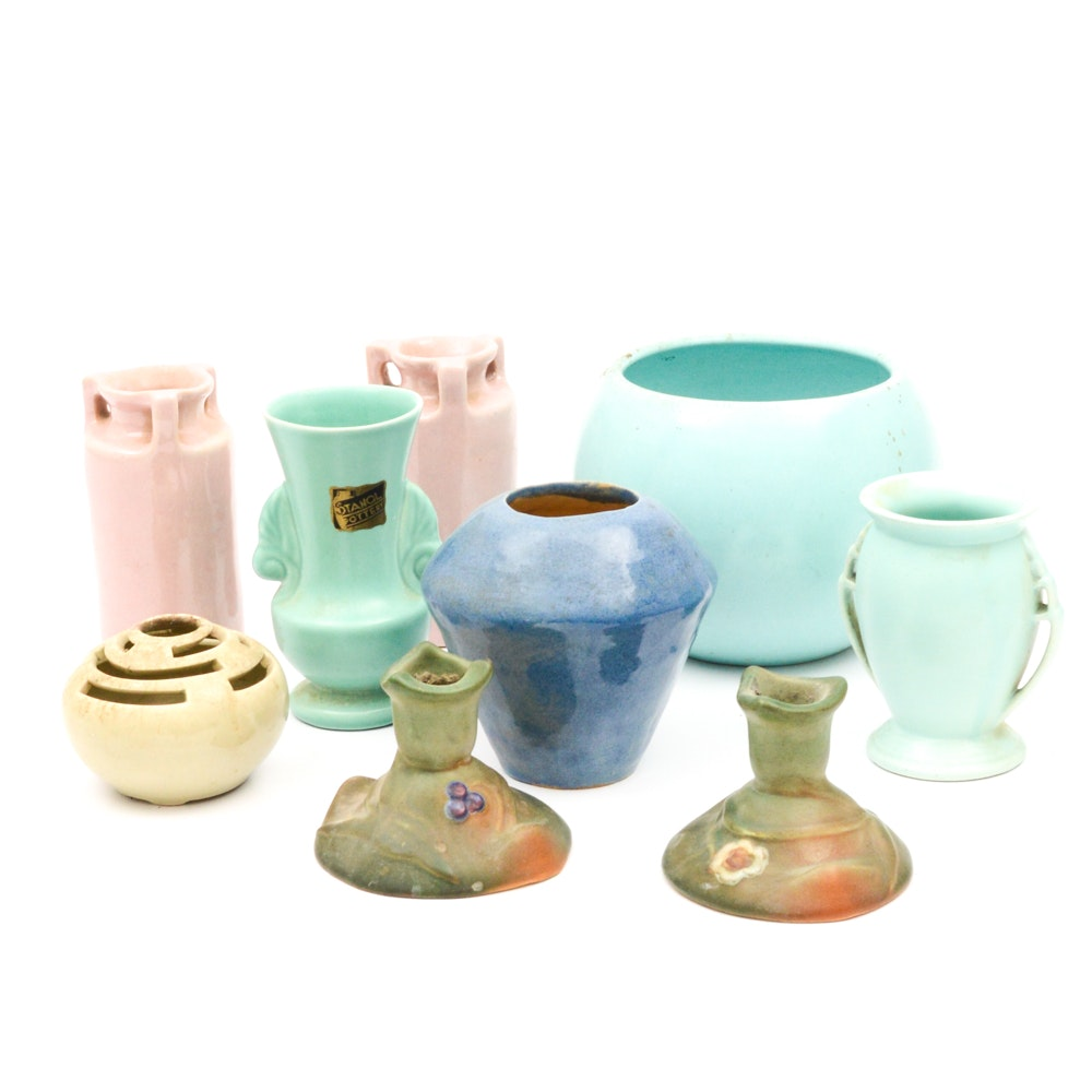 Vintage Weller, Stangle, Haeger and Metlox Pottery