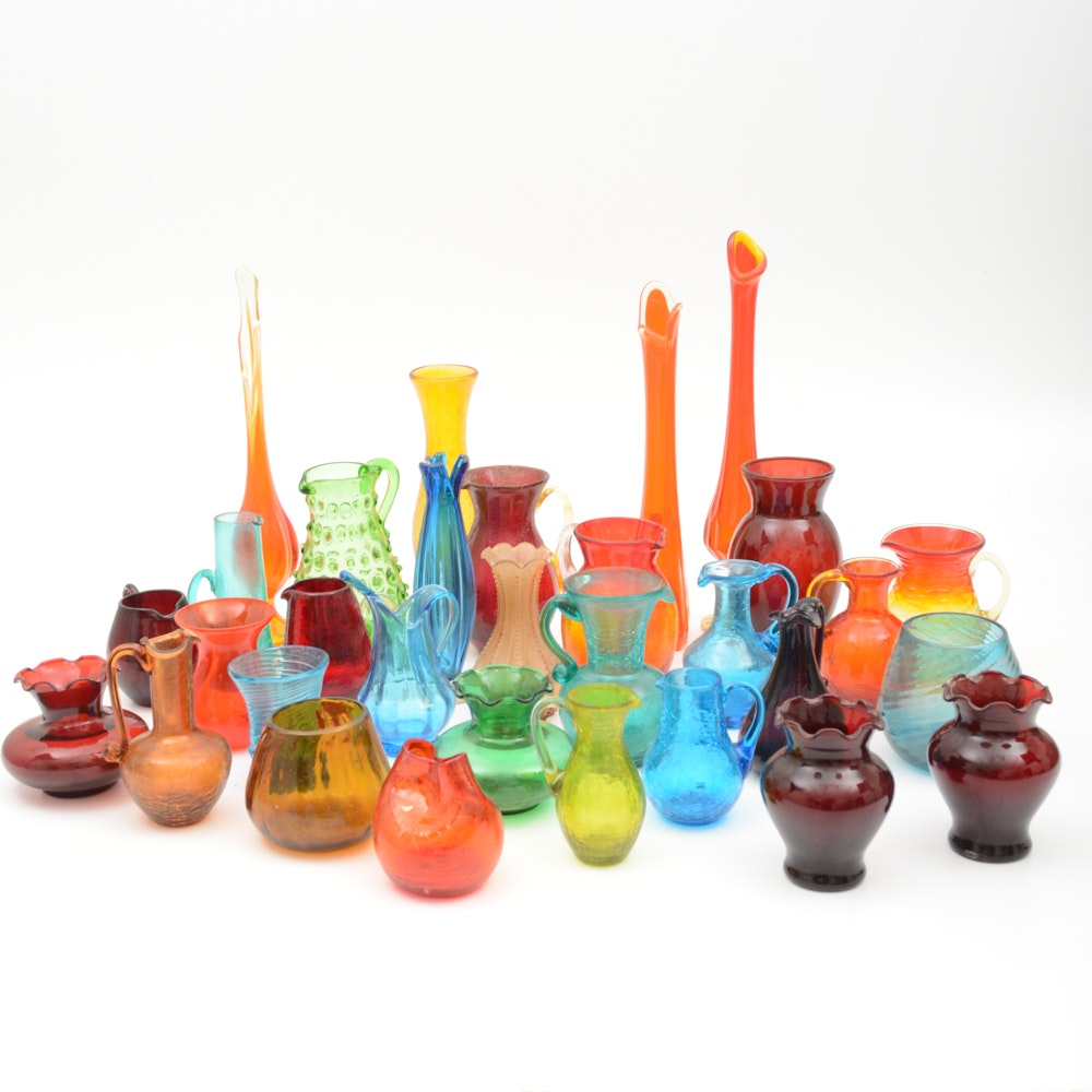 Vintage Colored Glass Collection