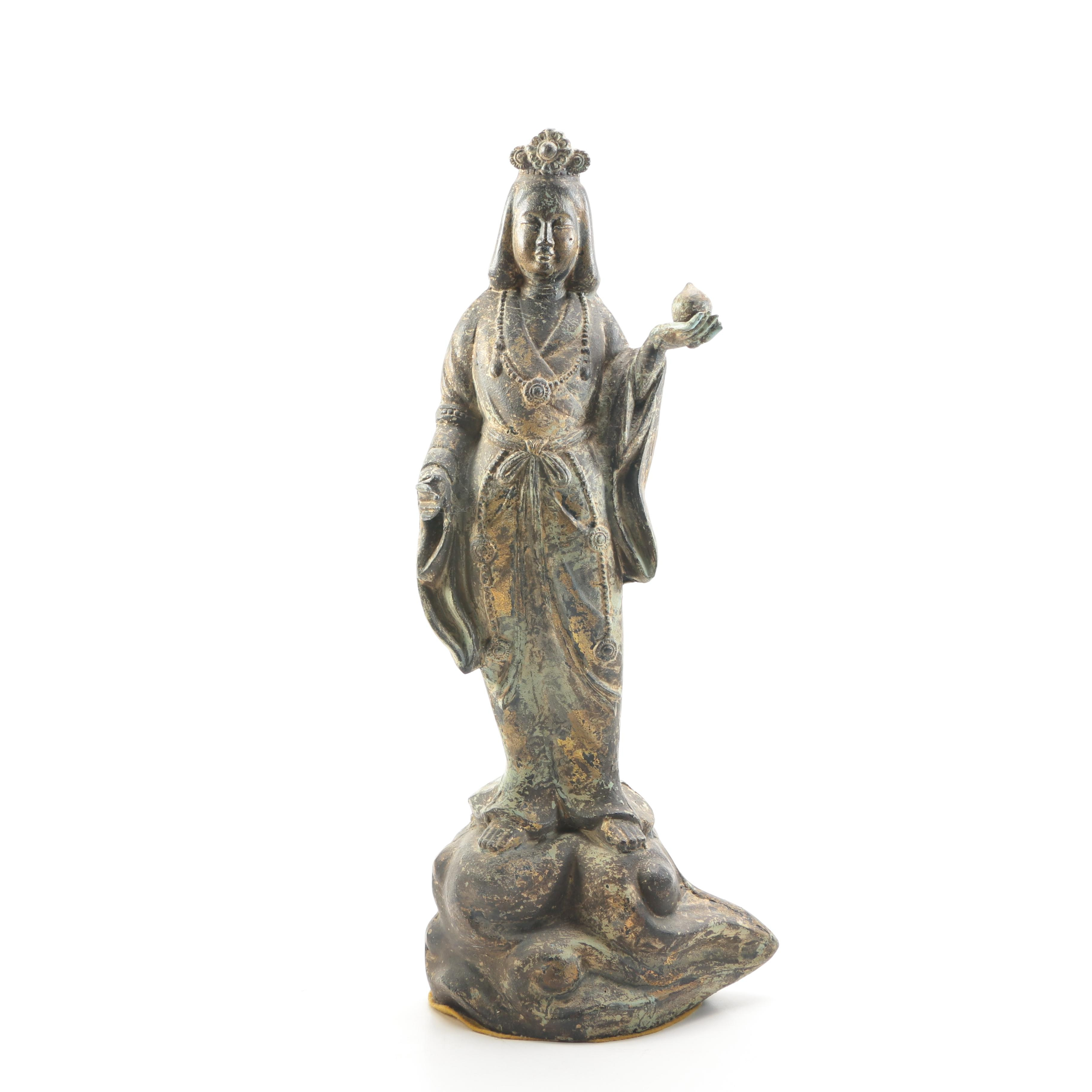 Chinese Metal Guanyin Statue