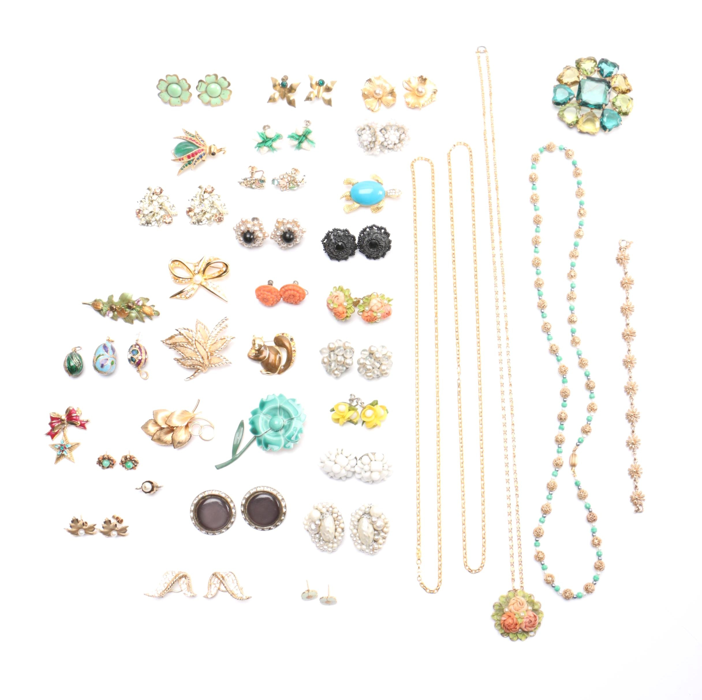 Costume Jewelry Including Boucher, Napier and Tafari
