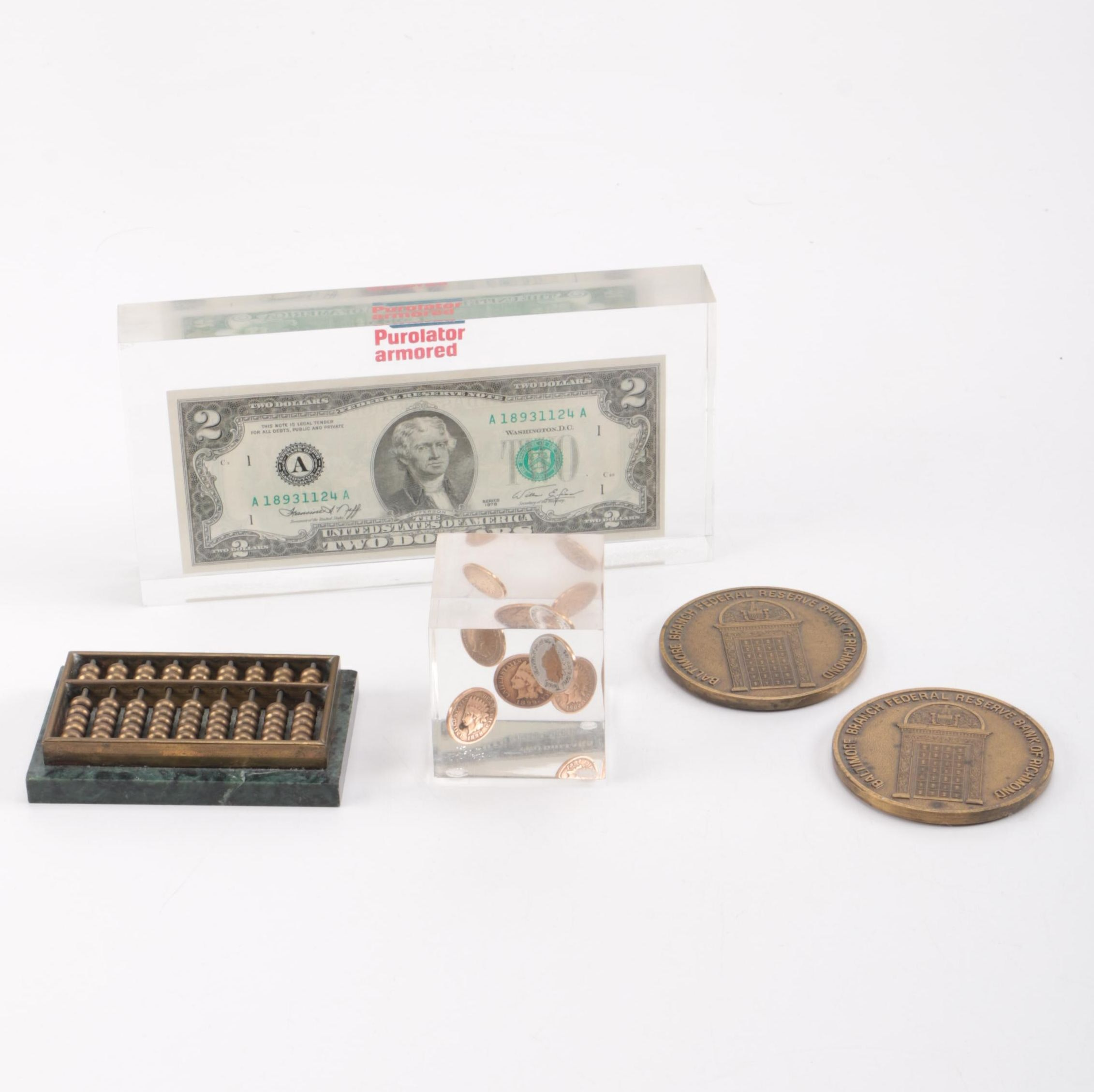 Group of U.S. Coins, Currency and Medals