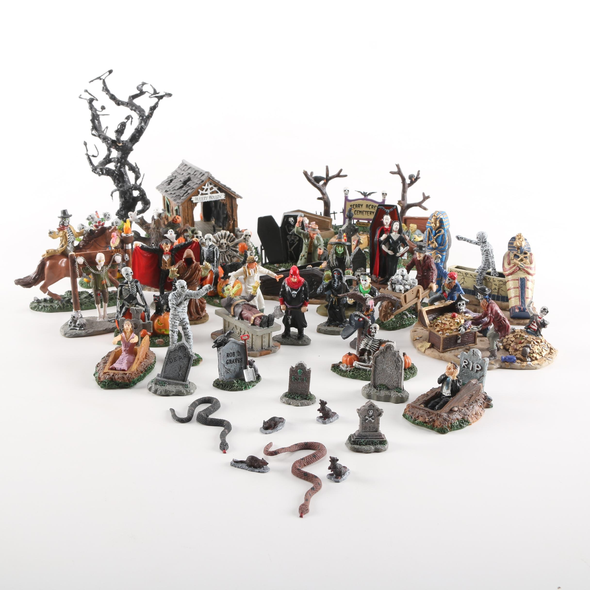 Lemax Halloween-Themed Village Collectibles