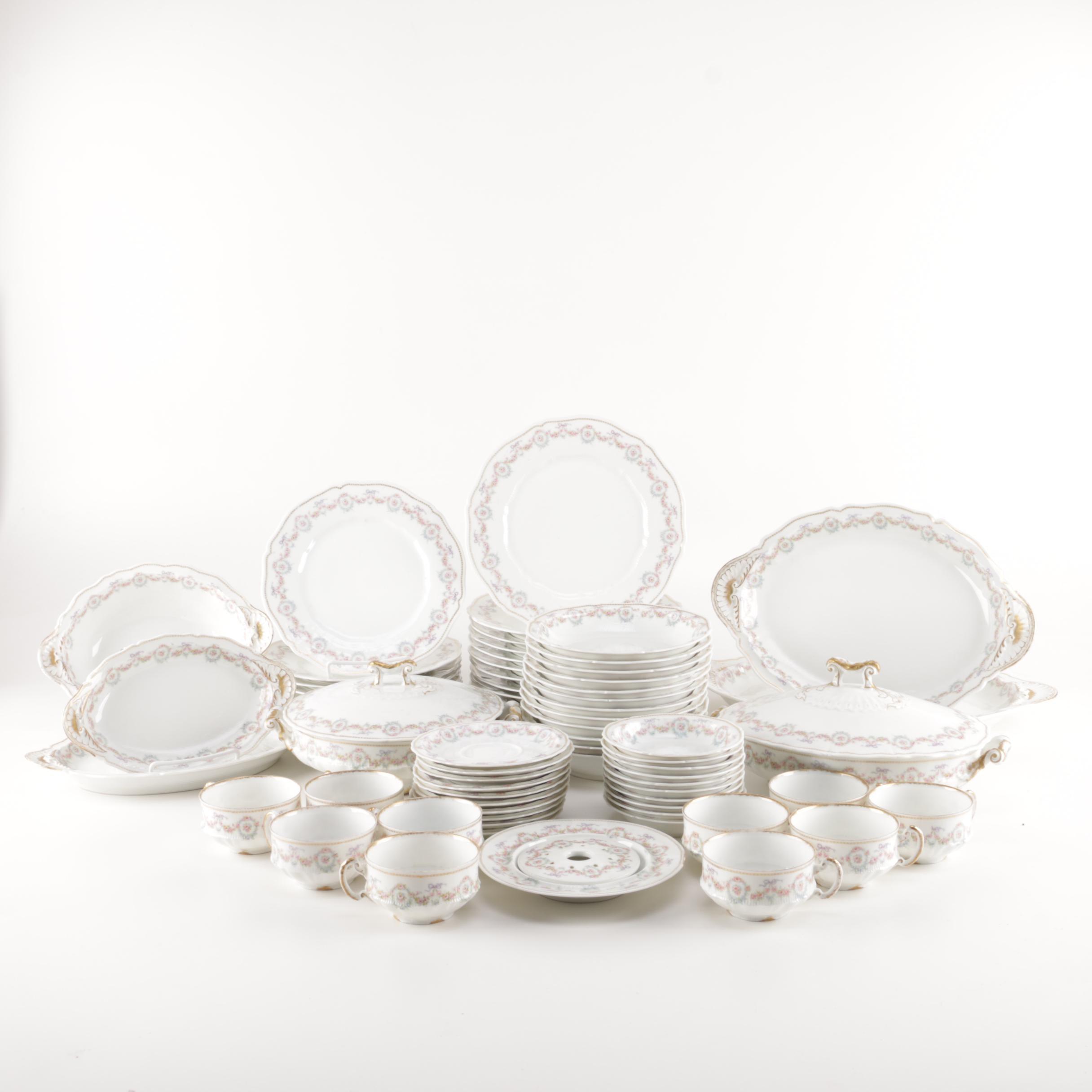 Generous Set of Théodore Haviland Limoges Porcelain Tableware