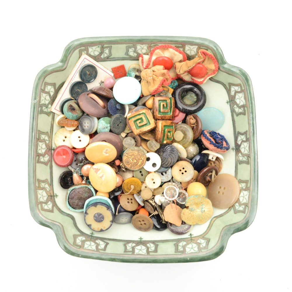 Vintage Bowl of Buttons