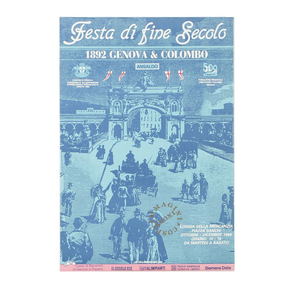 """Giclée Poster on Board for """"Festa di Fine Secolo..."""""""