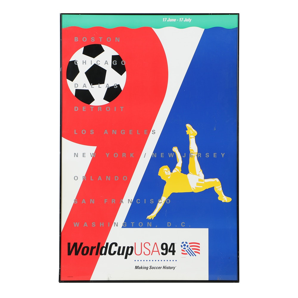 """FIFA Serigraph on Paper Poster """"World Cup USA '94"""""""