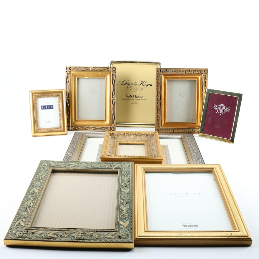 Gold and Silver Tone Picture Frames : EBTH