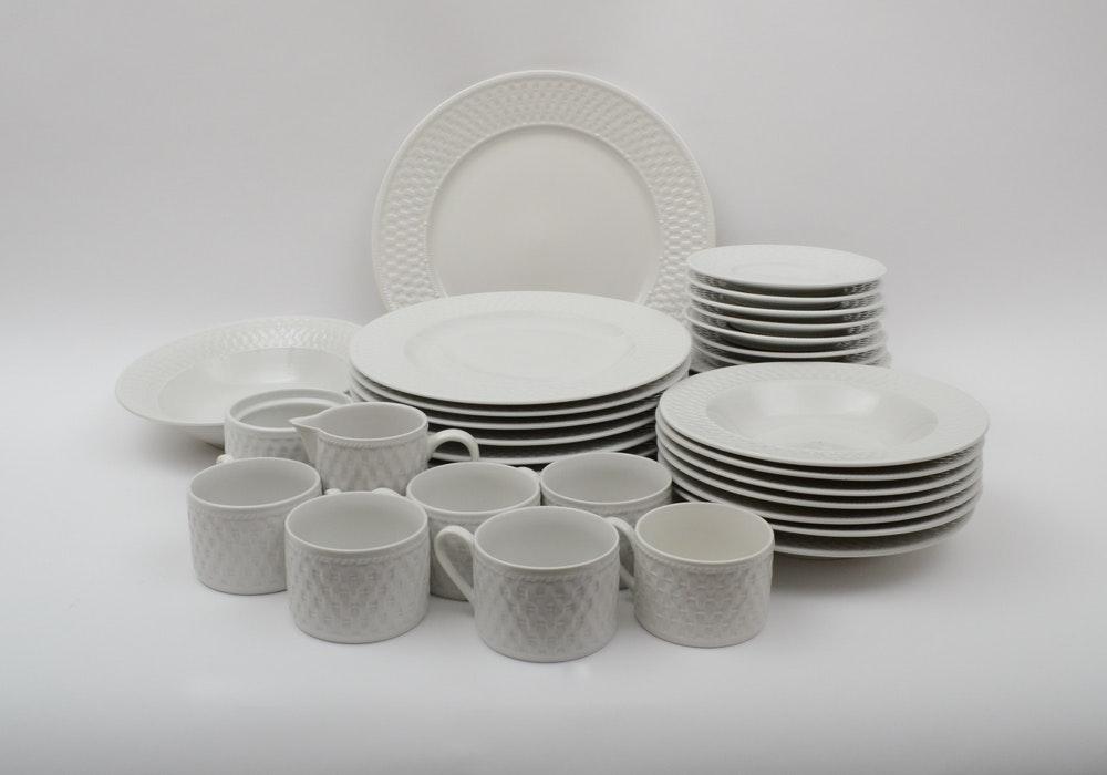 Majesticware by Oneida  Basketweave  Pattern Tableware ... & Majesticware by Oneida