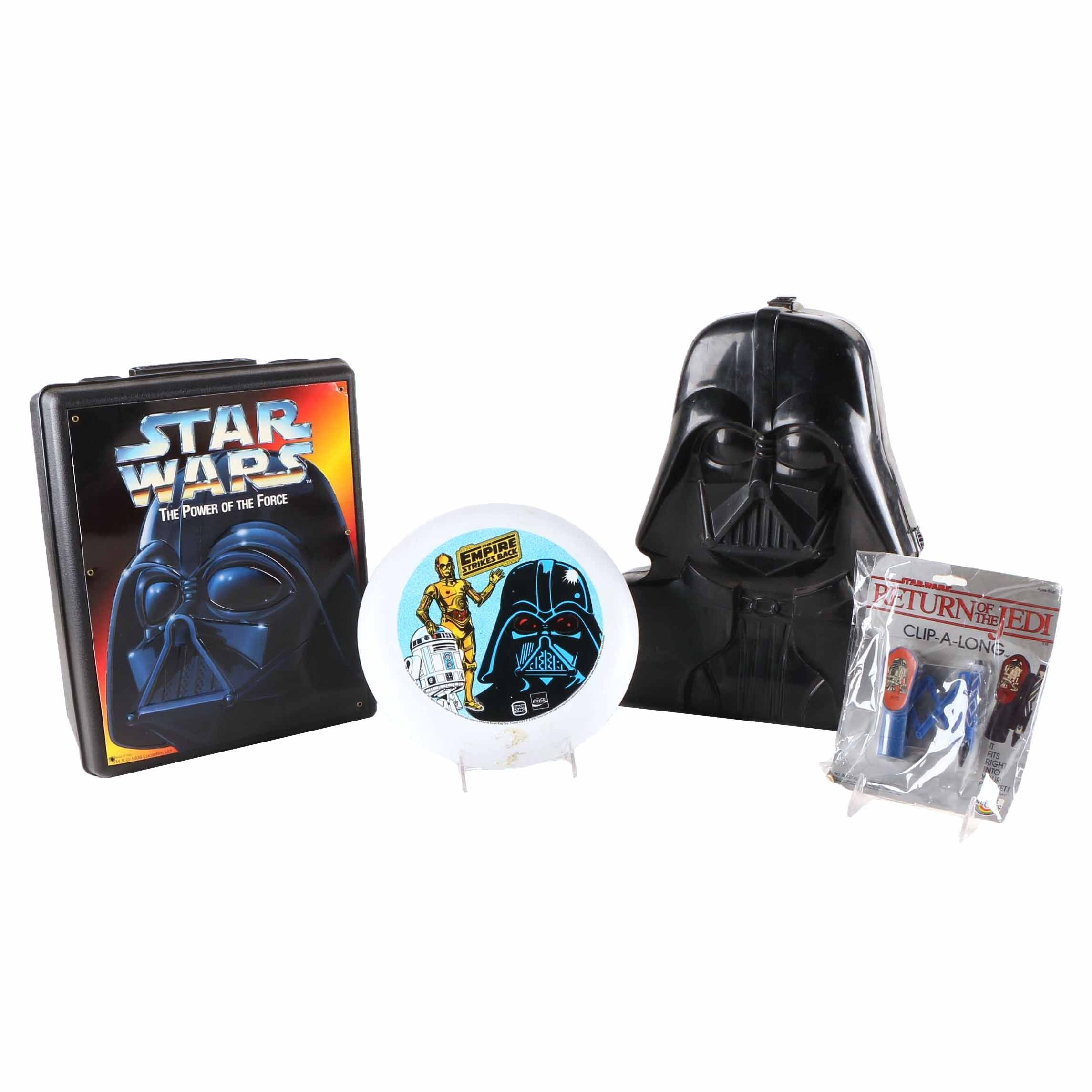 """""""Darth Vader"""" Action Figure Storage Cases and Other """"Star Wars"""" Memorabilia"""