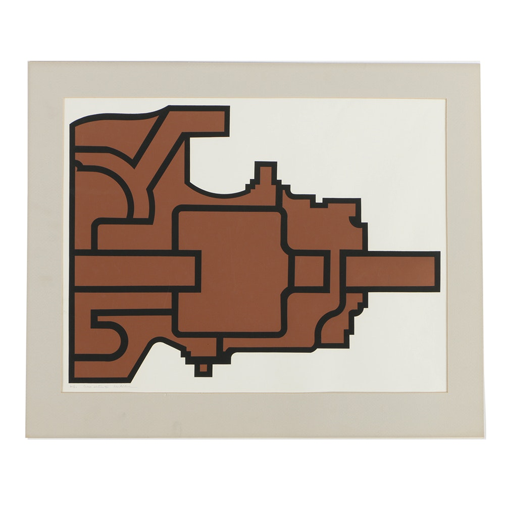 "Lee Adler Limited Edition Serigraph on Paper ""Cross Section III"""