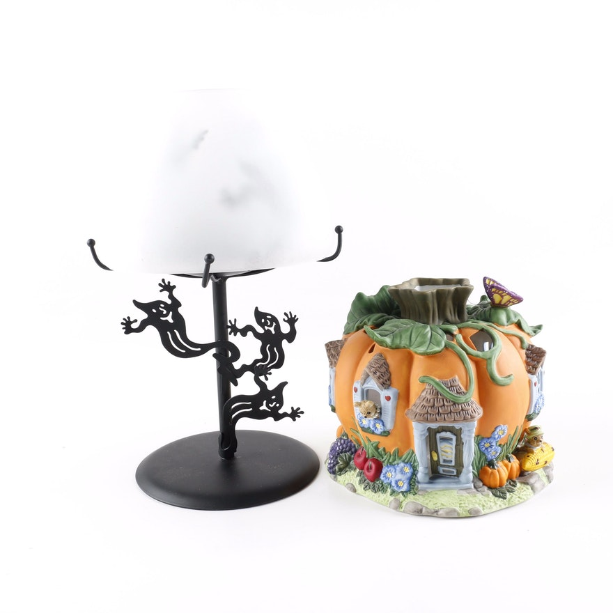 partylite halloween candle holders