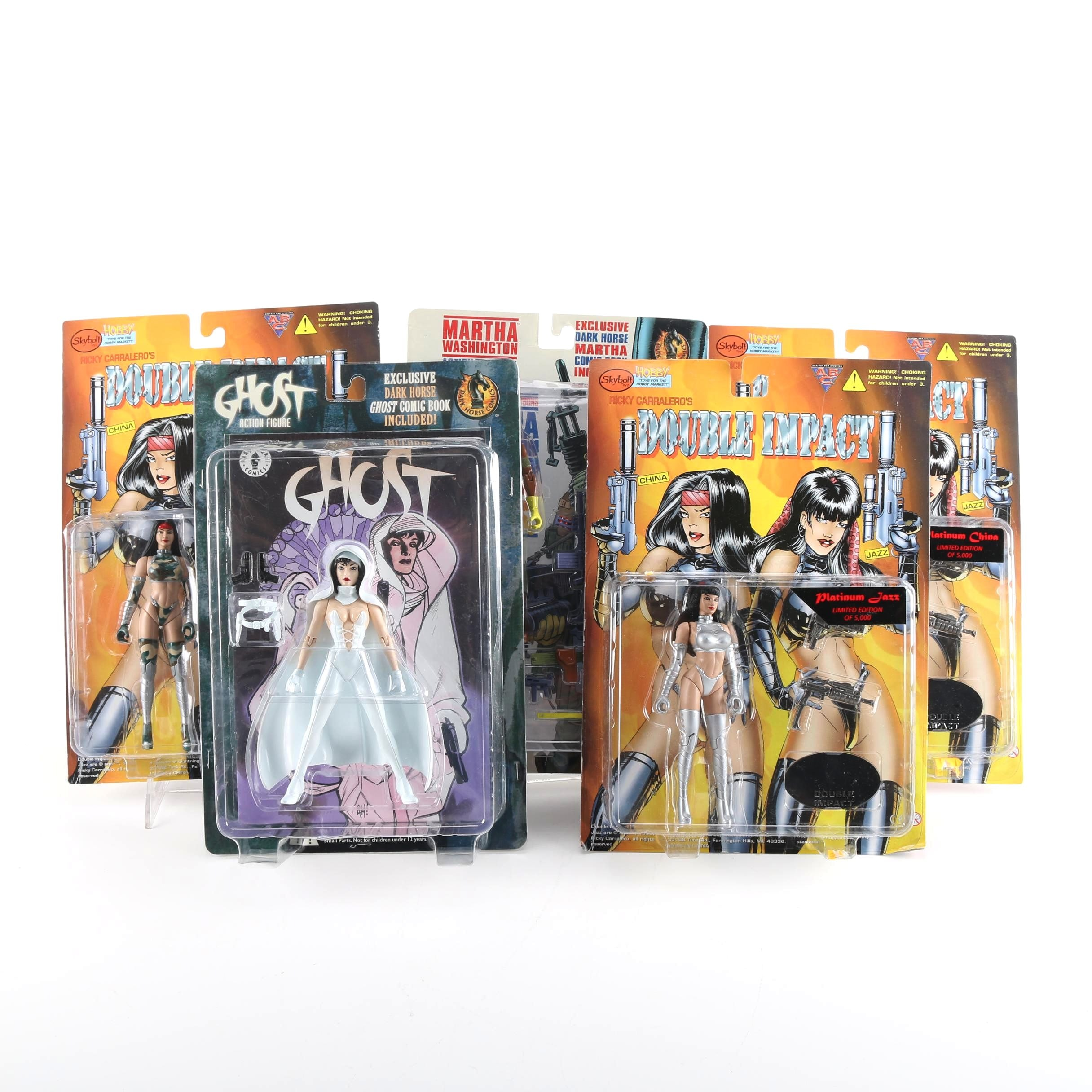 Variety of Female Action Figures Including Ghost, Martha Washington