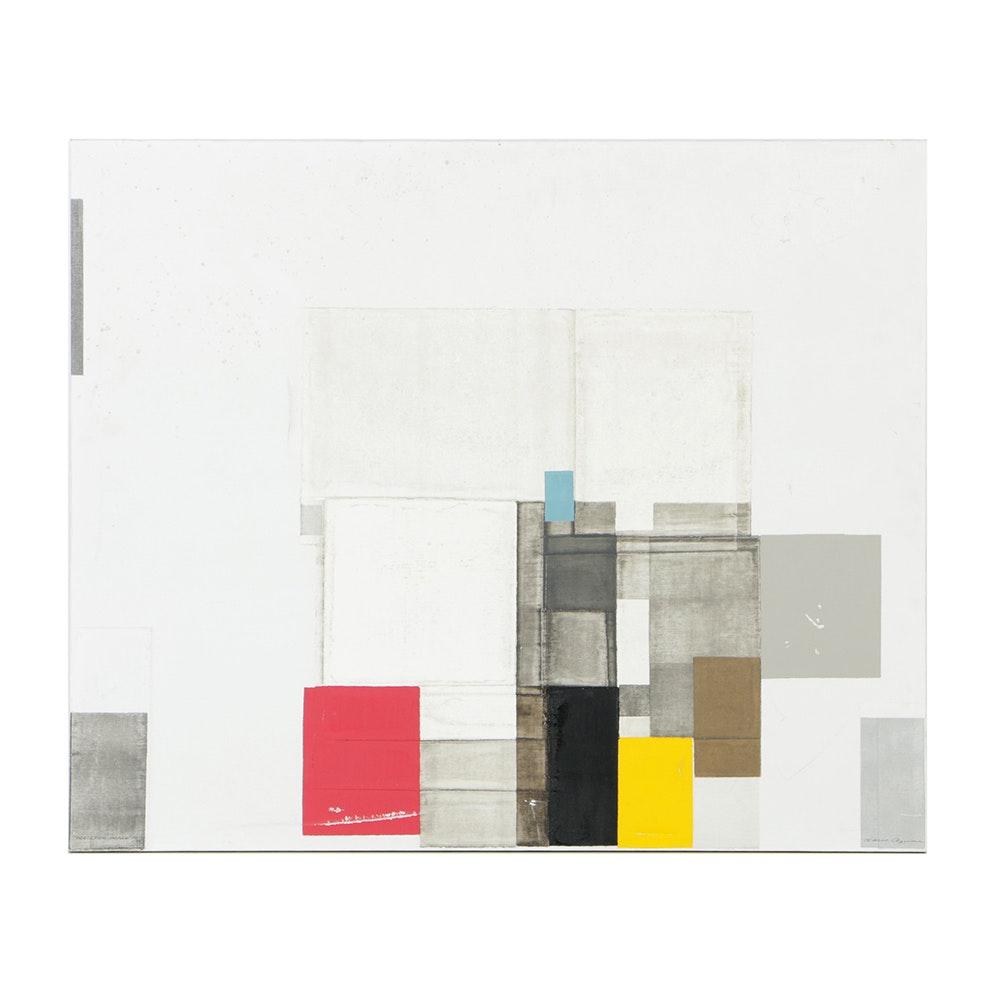 "Nori Azuma Signed Limited Edition Serigraph on Canvas ""Peaceful Image"""