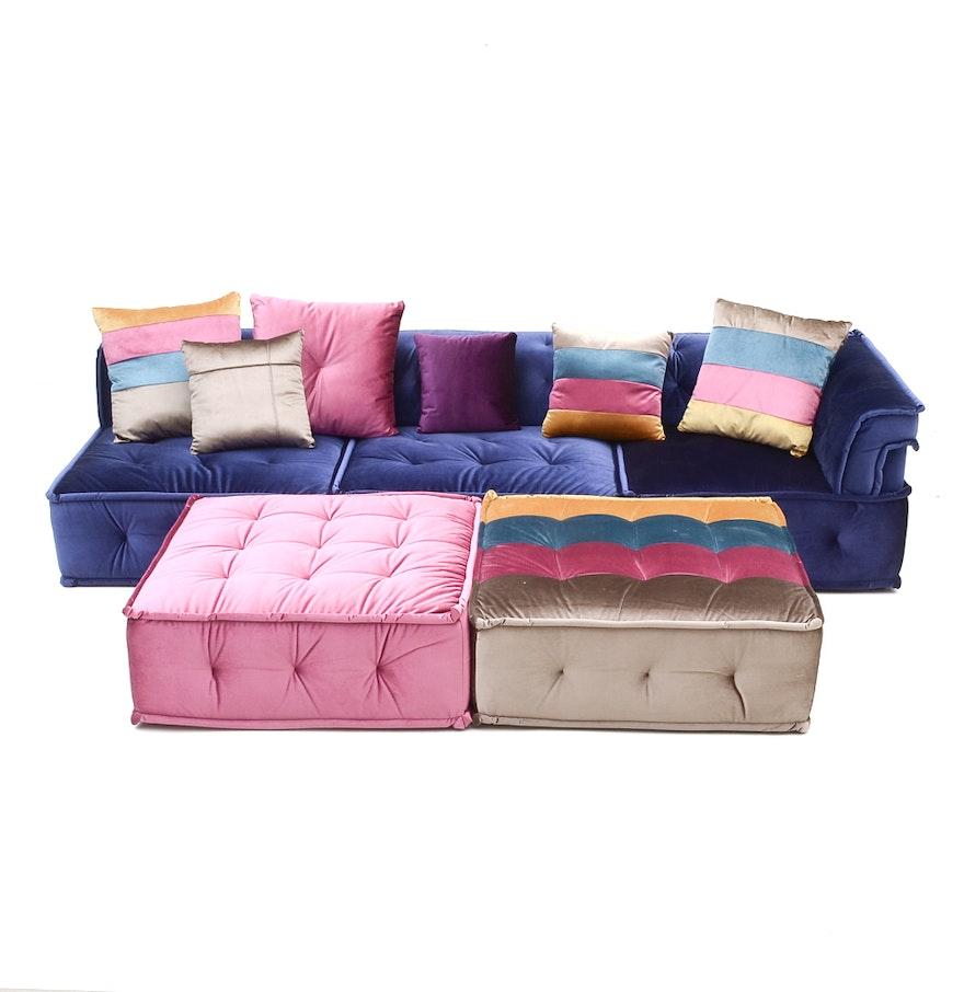 Five piece divani casa dubai sectional sofa by vig for Divani recliner