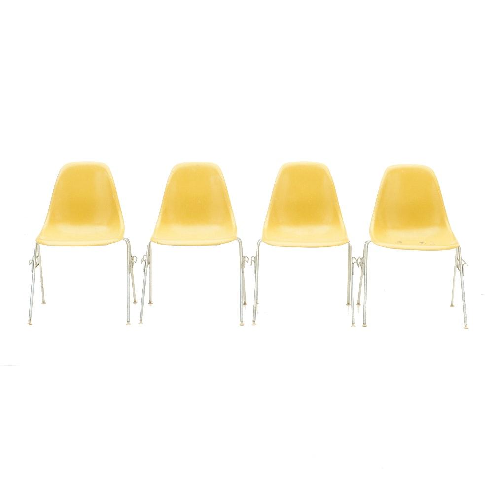 Set of Four Herman Miller Fiberglass Shell Chairs