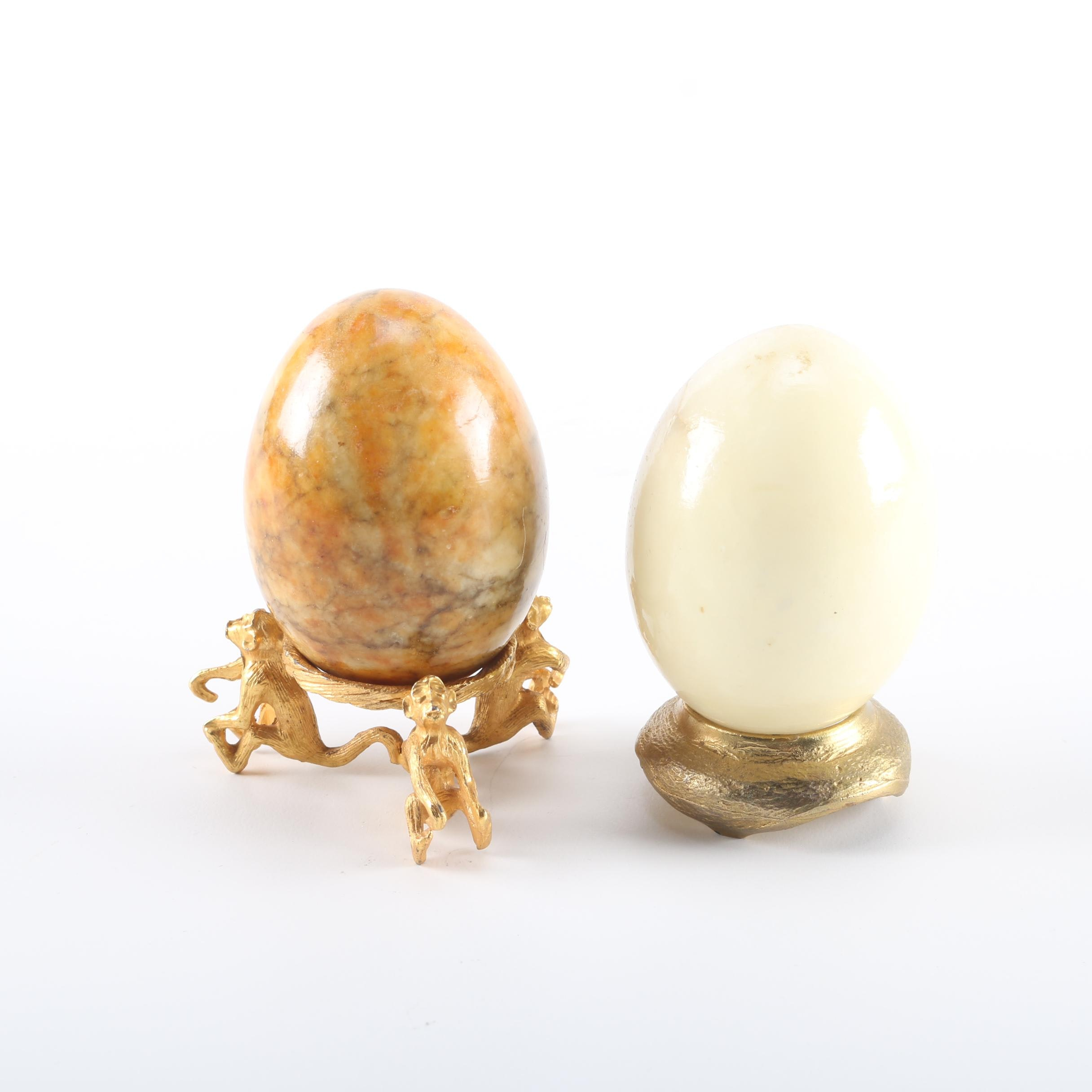 Alabaster Eggs with Stands