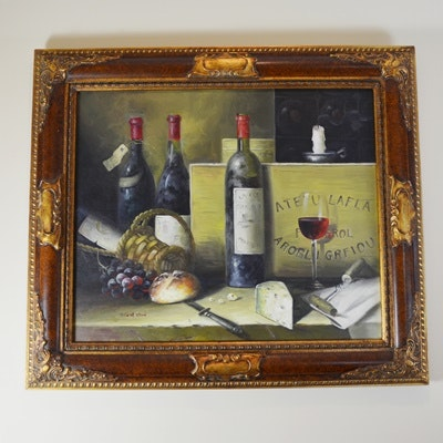 Thosa Olson Signed Oil on Canvas Still Life Painting