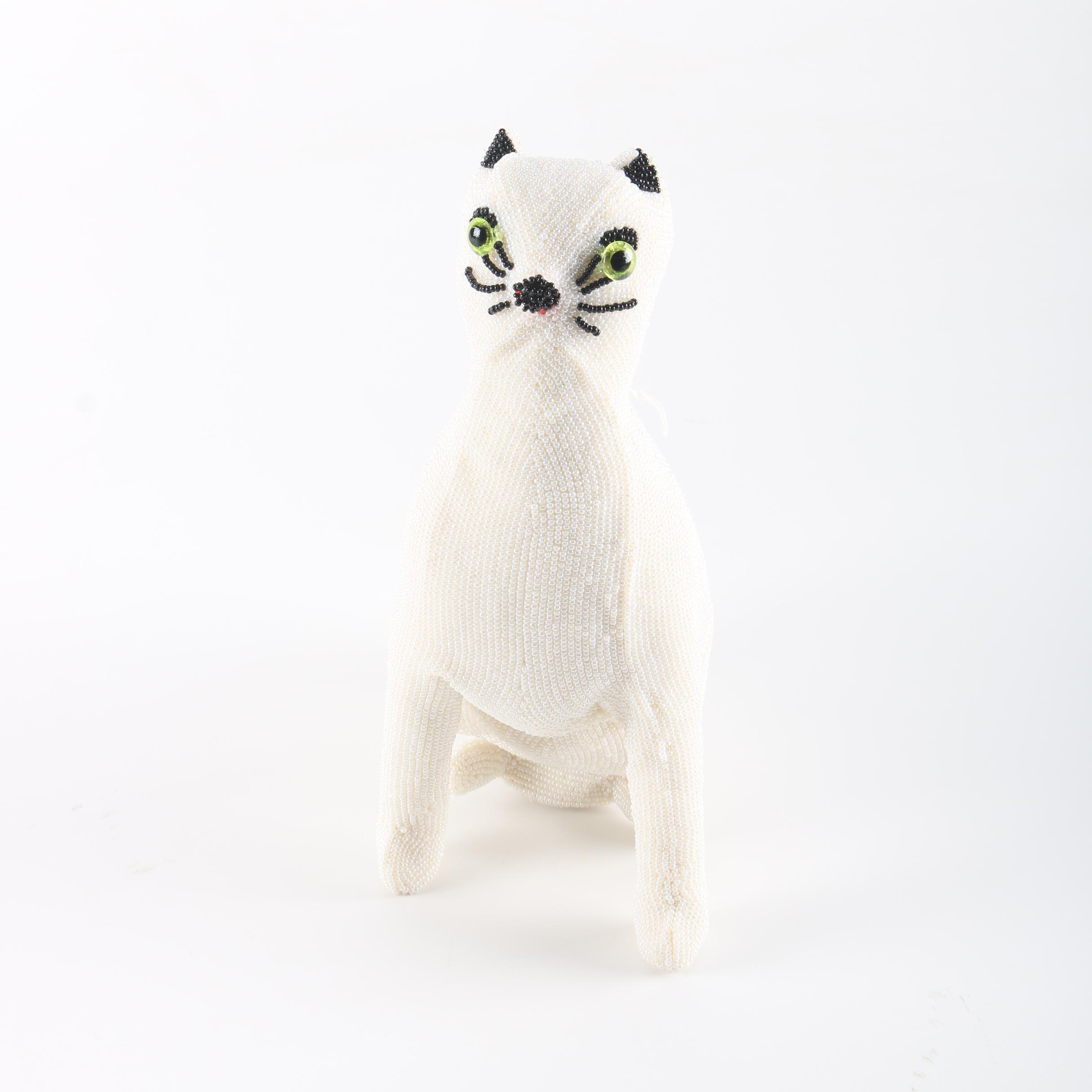 Beaded Cat Purse