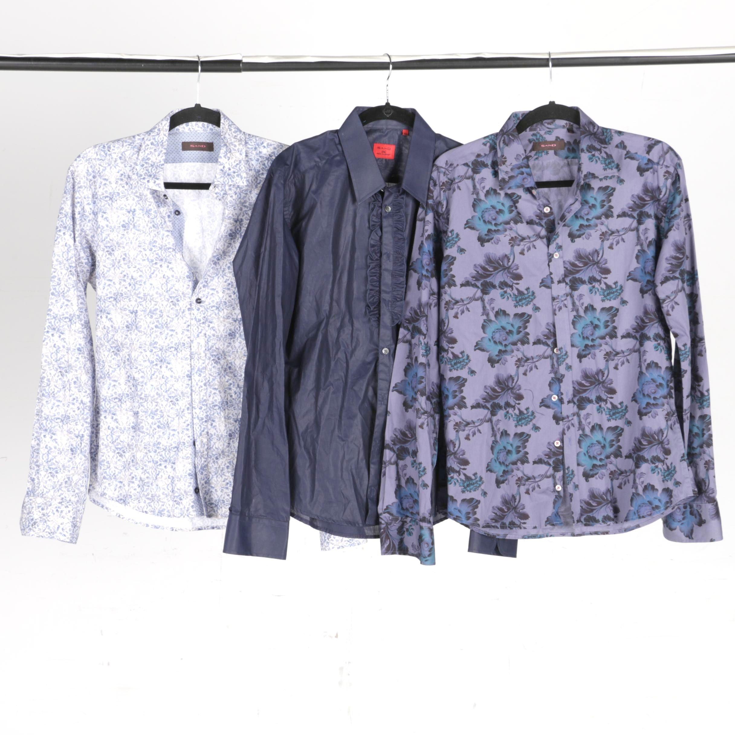 Men's Sand Button-Down Shirts