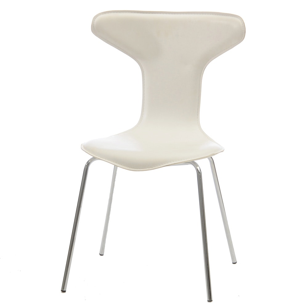 Modernist Side Chair in White