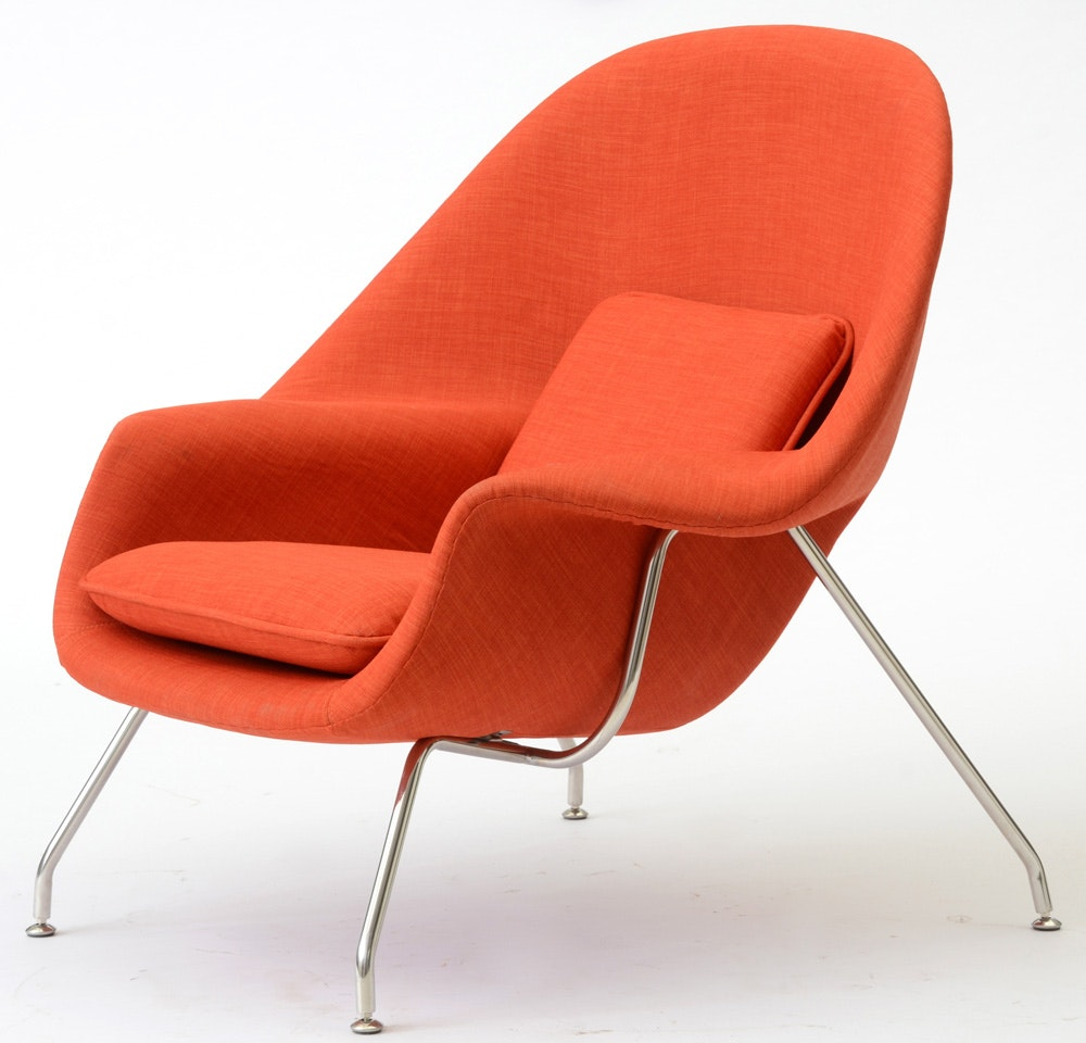 Lounge Chair And Ottoman By Nyekoncept Ebth