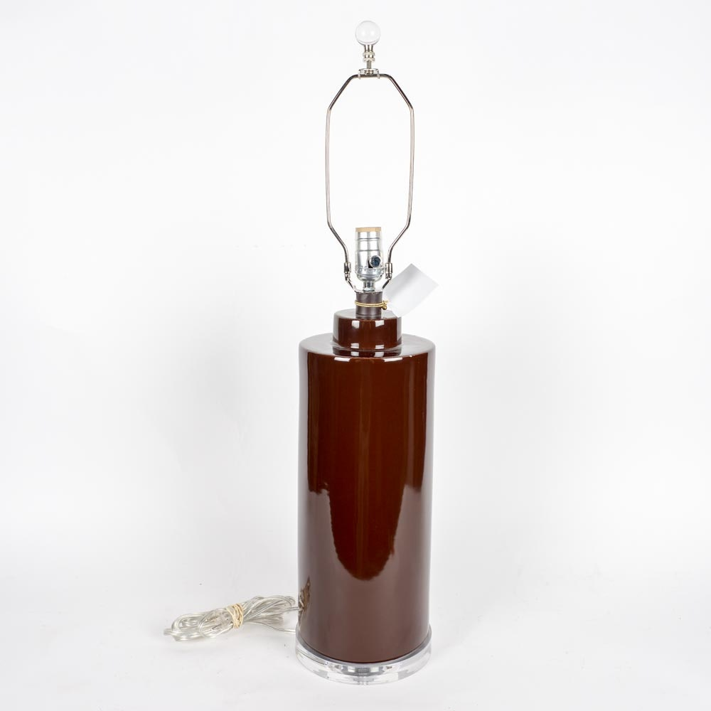 Dark Chocolate Brown Ceramic Table Lamp by Bungalow Five