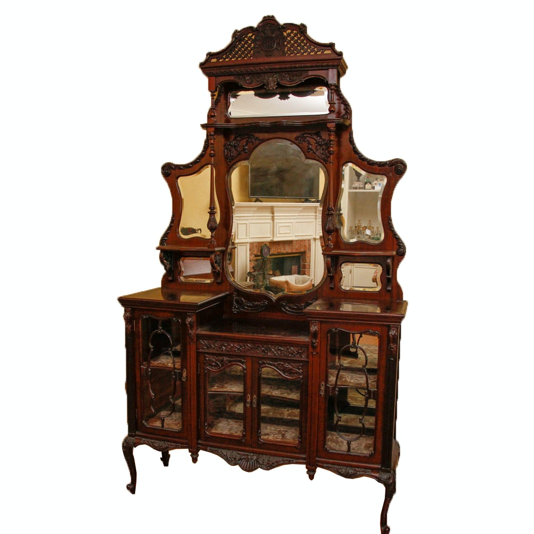 Antique Louis XV Style Display Cabinet