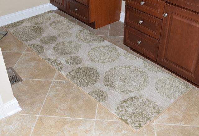 Modern Machine Made Shaw Living Carpet Runner