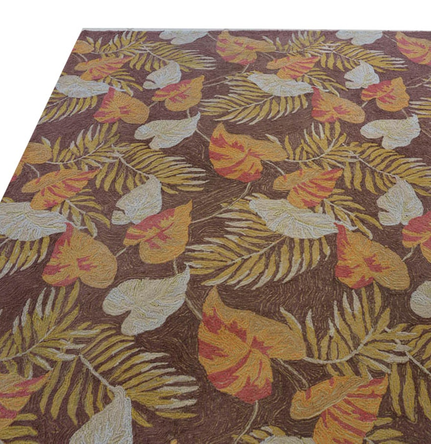 Ravella By Frontgate Hand Tufted Tropical Leaf Area Rug : EBTH