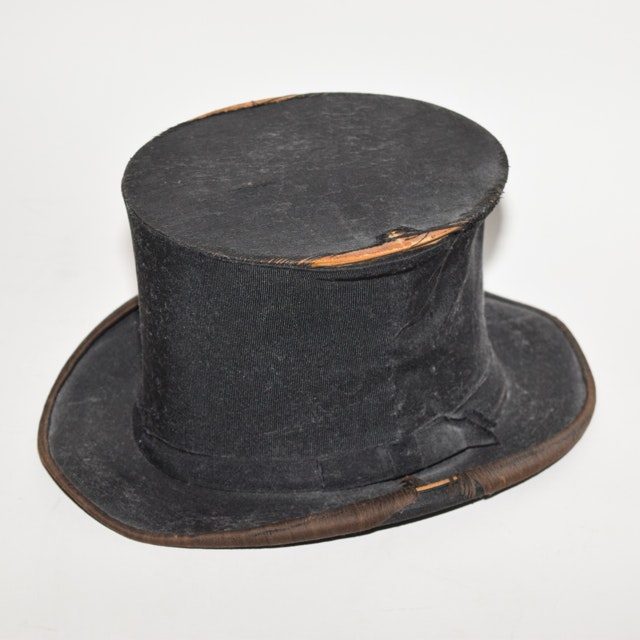 Antique Young Bros Collapsible Top Hat