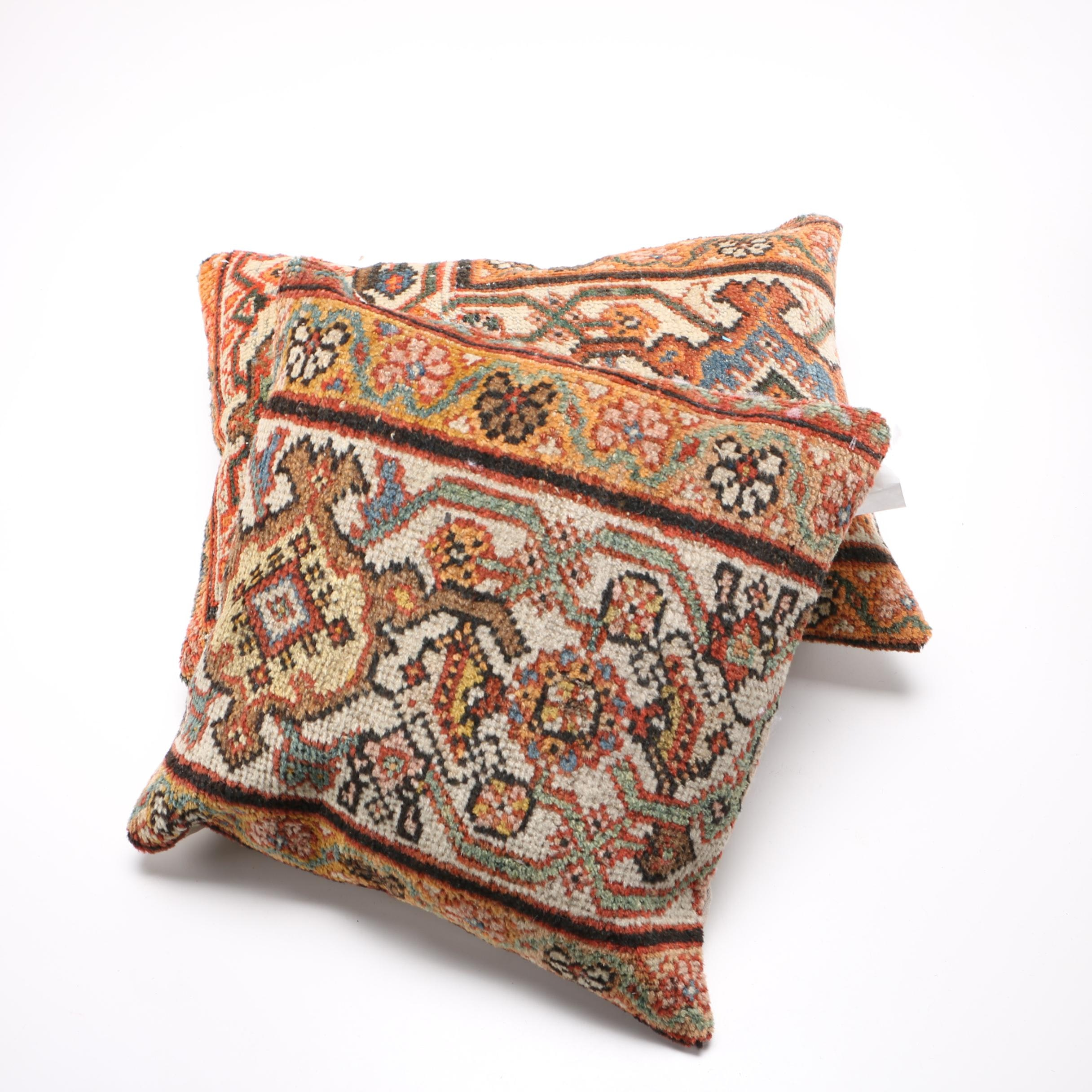 Antique Persian Sultanabad Rug Pillows