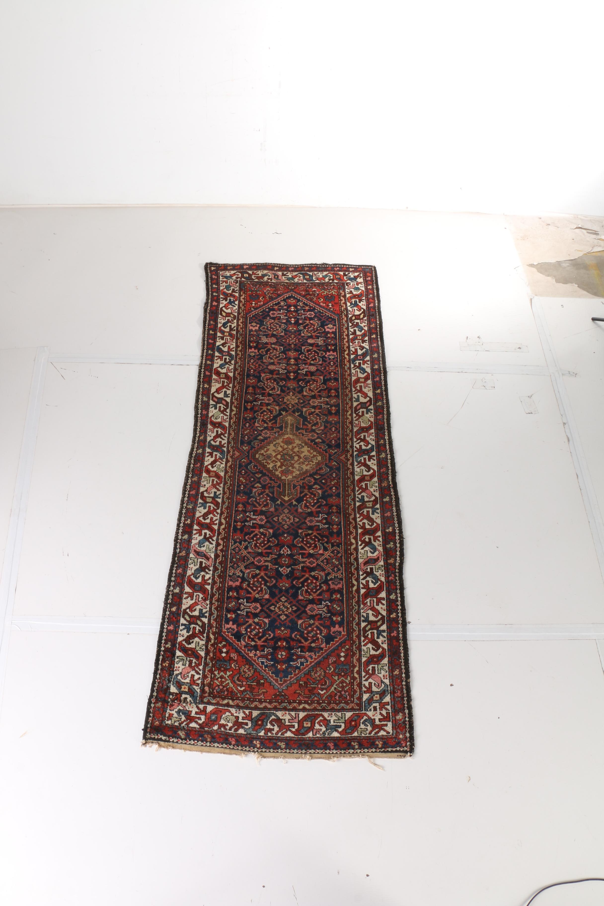Semi-Antique Hand-Knotted Persian Shiraz Runner