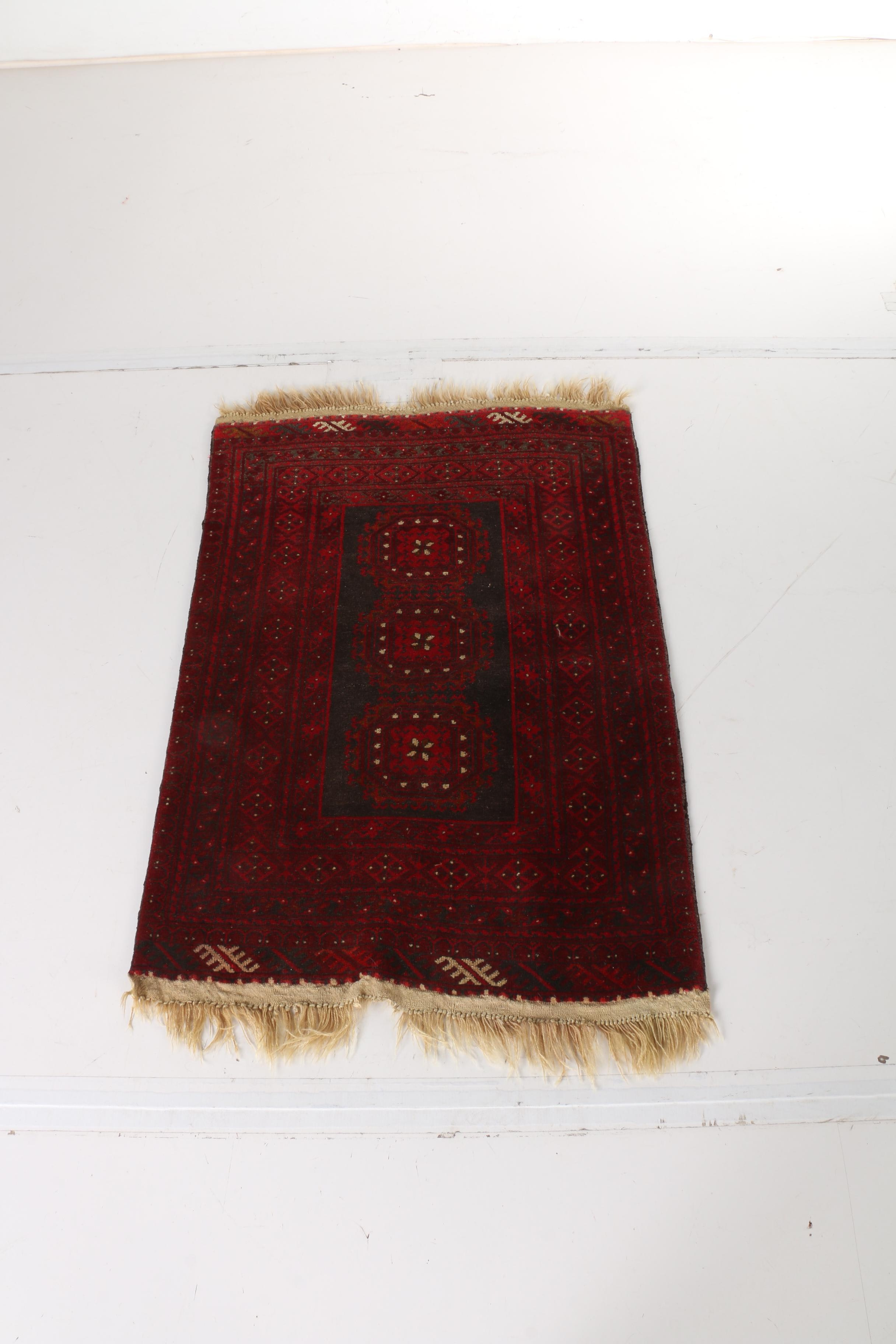 Hand-Knotted Baluch Tribal Area Rug