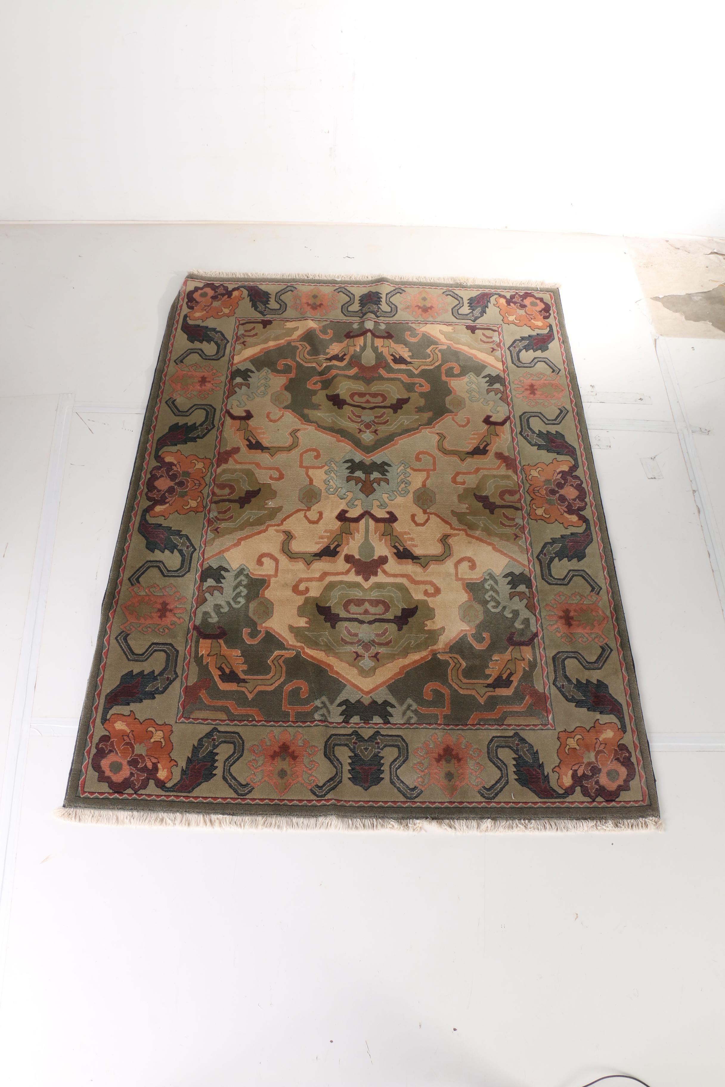 "Power-Loomed Couristan ""Mirage Collection"" Wool Area Rug"