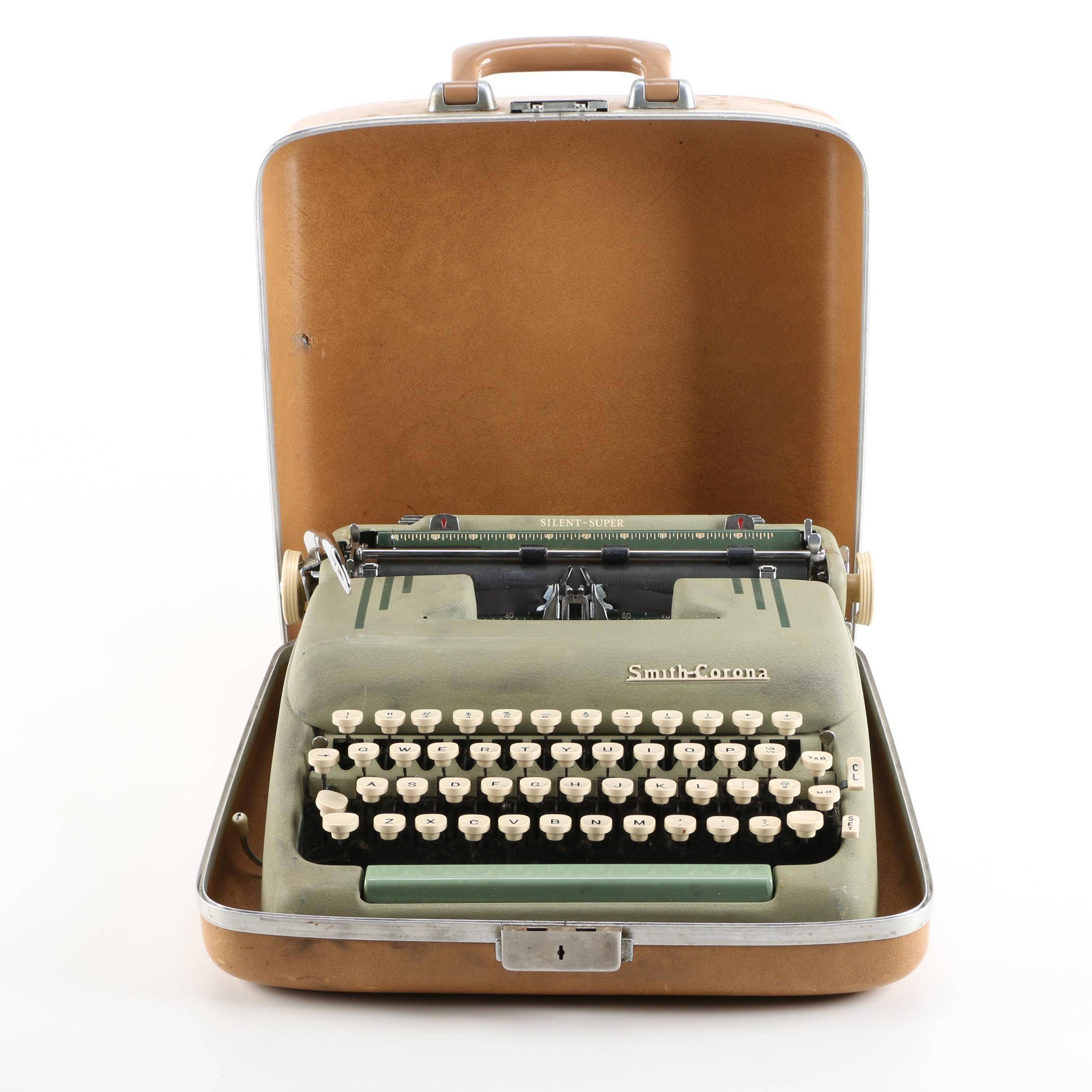 "Vintage Smith-Corona ""Silent-Super"" Typewriter in Case"