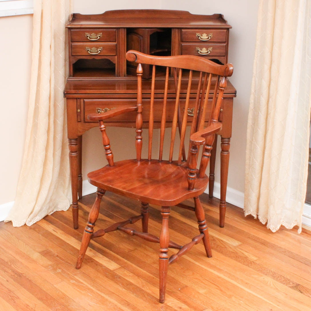 Statton Trutype Americana Writing Desk With Chair