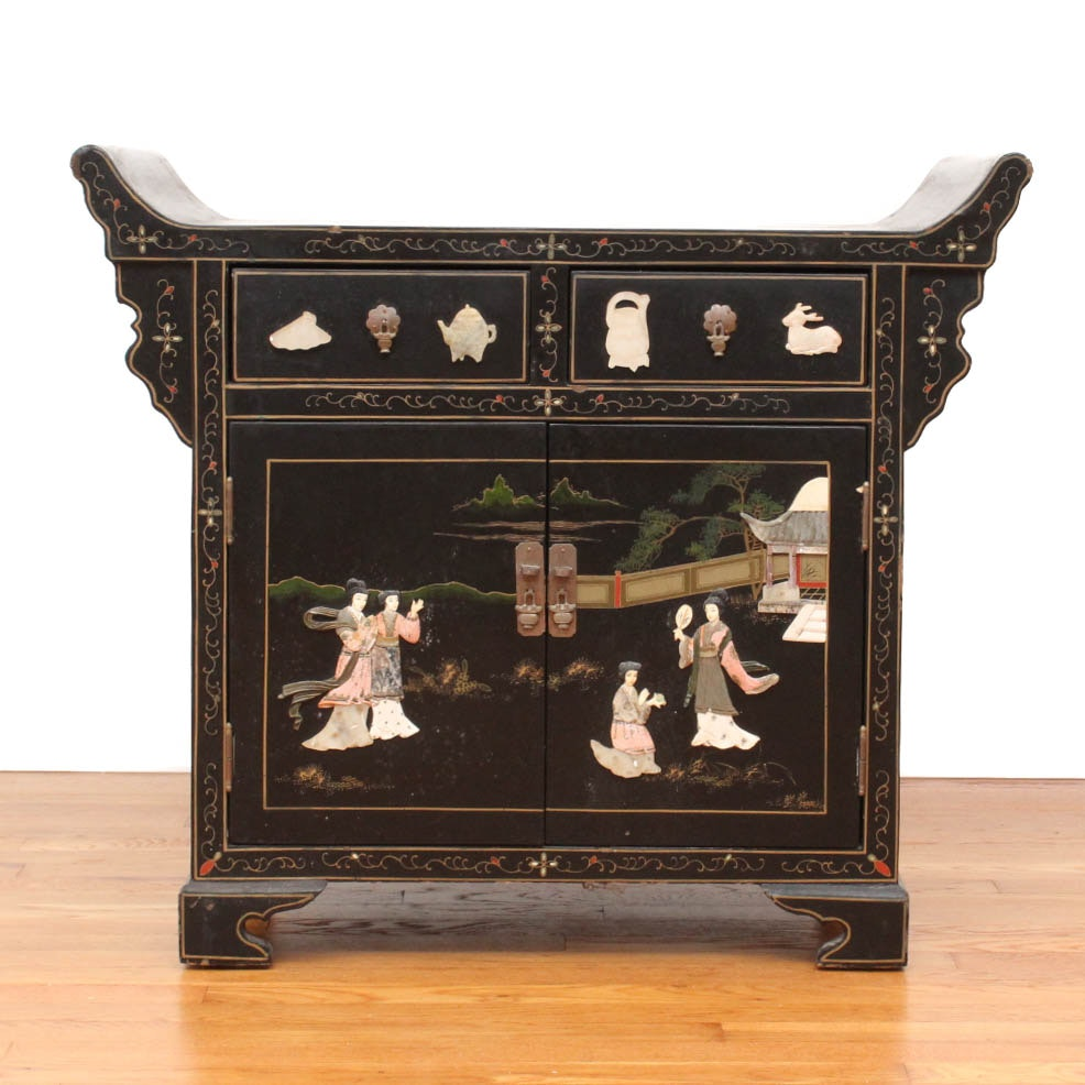 Vintage Chinoiserie Altar Cabinet