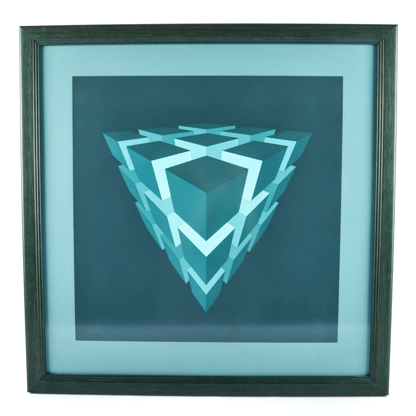 """Brian Halsey Original Limited Edition Serigraph """"Time-Space"""""""