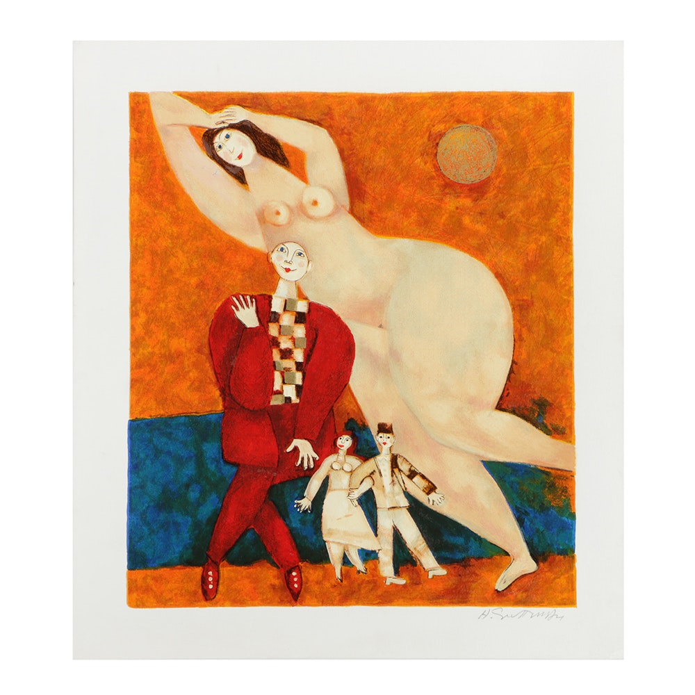 "Harry Guttman Limited Edition Serigraph on Paper ""The Dream"""