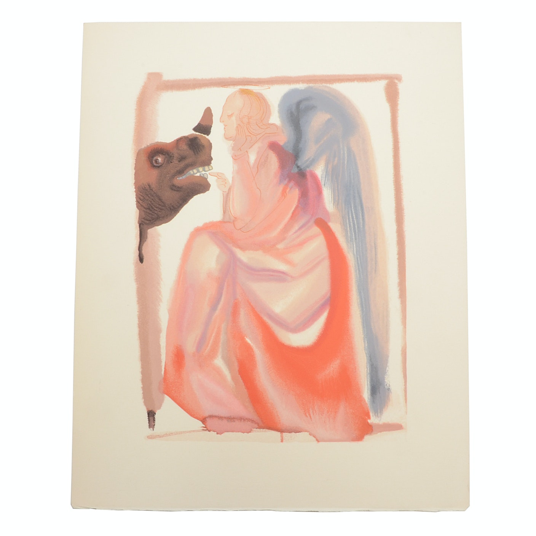 "Salvador Dalì Decomposition Wood Engraving ""Heaven Canto 6"""