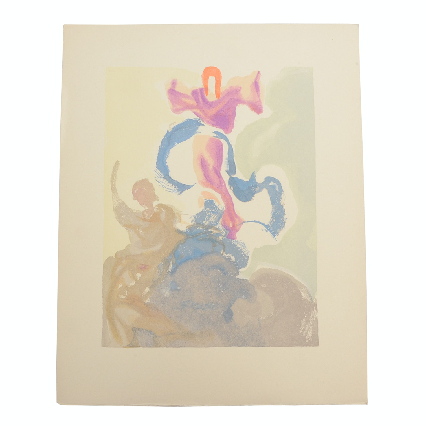 "Salvador Dalì Decomposition Wood Engraving ""Heaven Canto 3"""