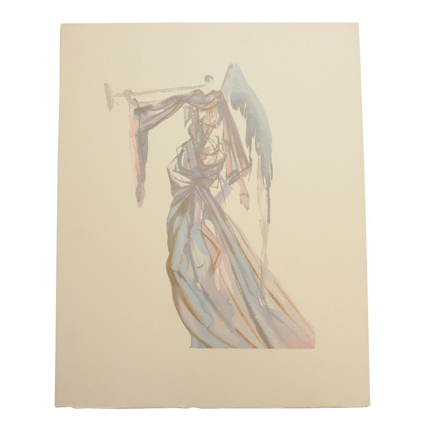 "Salvador Dalì Decomposition Wood Engraving ""Heaven Canto 10"""