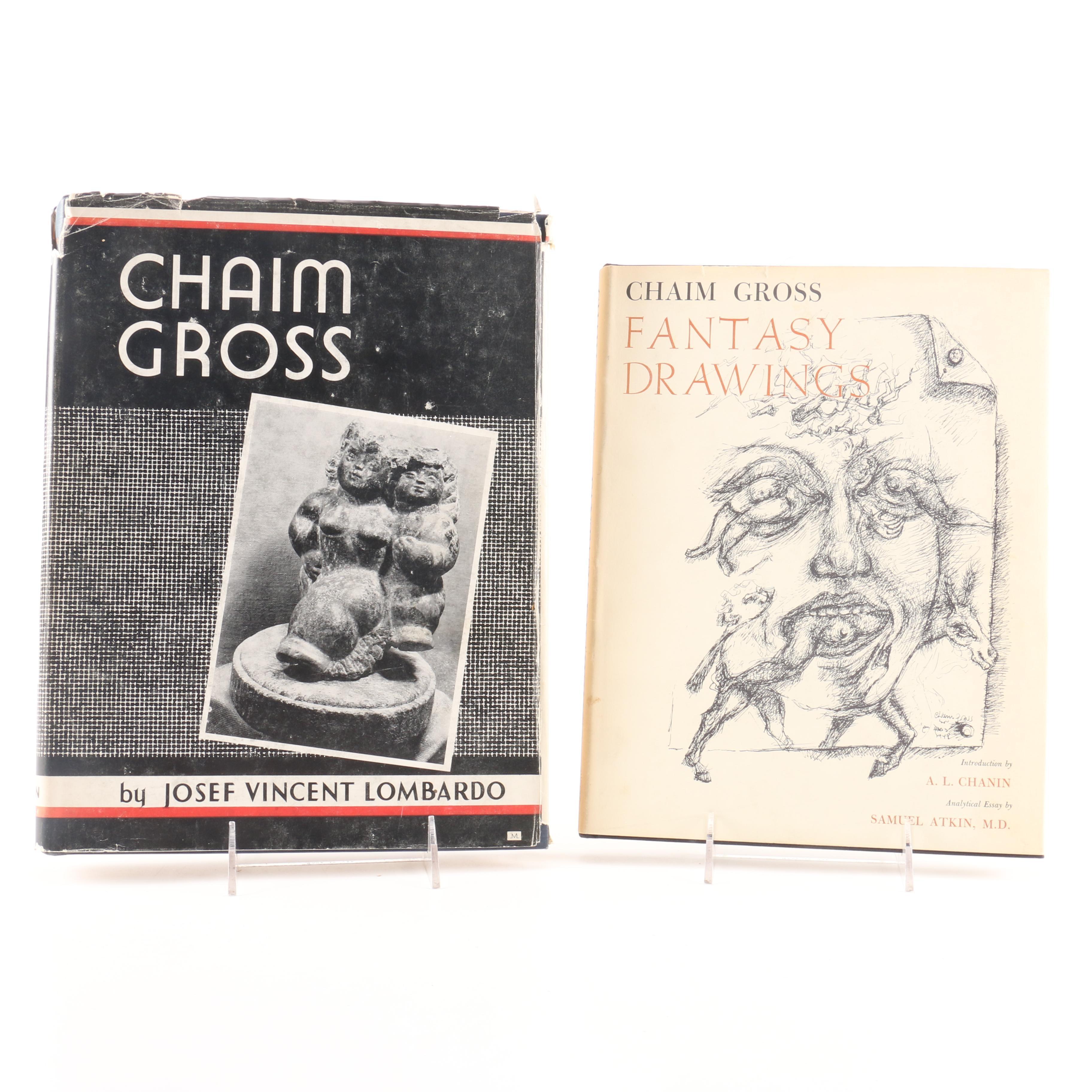 Pair of Signed Vintage Chaim Gross Art Books