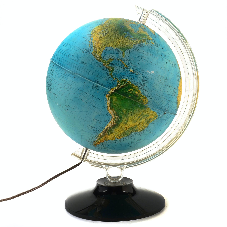 Rand McNally Vintage Light-Up Desk Globe