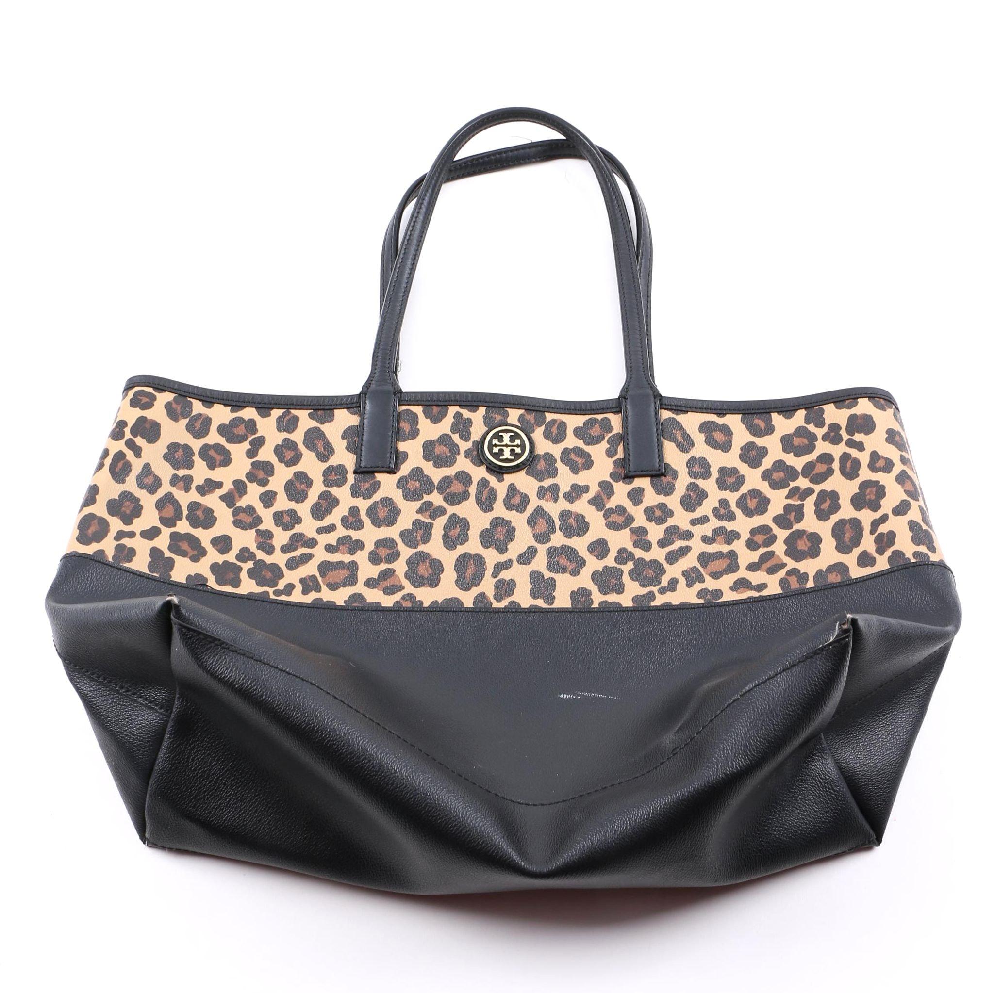 Tory Burch Leopard Print Tote Bag